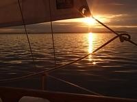 Sailing round Sheppey - evening light